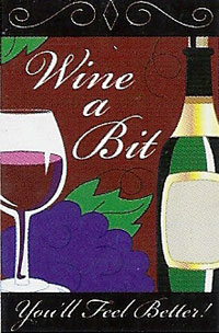 Wine Applique Flag 28x44