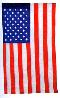 Embroidered Stars American Flag Applique Garden Flag 13x18