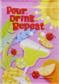 Pour Drink Repeat Impressions Flag 28x40