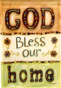 God Bless Our Home Impressions Flag 28x40