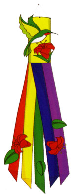 Hummingbird Windsock 12x60
