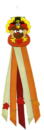 Fall Turkey Windsock 12x60