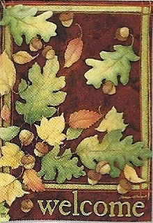 Leaves Falling Garden Flag 12.5 x 18