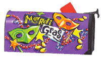 Mardi Gras Magnetic Mail Wrap