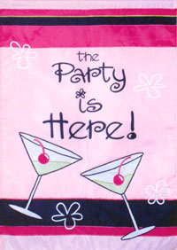 Girls Night In Applique Flag 28x40