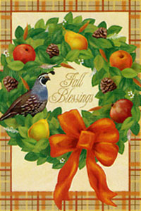 Fall Blessings Flag 28x40