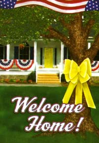 Welcome Home Flag 28x40