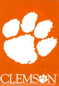 Clemson University Screen Print Flag 28x40