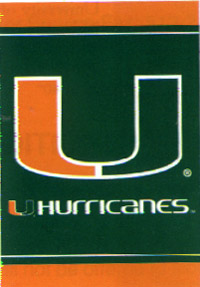 University of Miami, Florida Flag 28x40