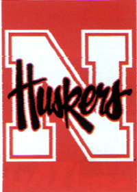 University of Nebraska Screen Print Flag 28x40