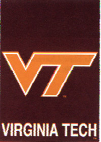 Virginia Tech Screen Print Flag 28x40
