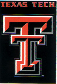 Texas Tech Screen Print Flag 28x40