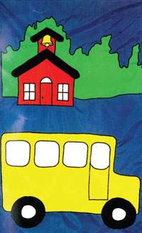 School Bus Flag 28x40