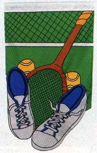 Tennis Addict Applique Flag 28x48