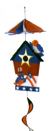 Patriotic Birdhouse Twister