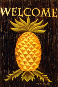Pineapple Welcome Garden Flag 12x18
