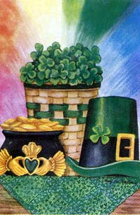 St. Pat's Pot of Gold Flag 28x40
