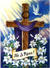 He is Risen Flag 28x40