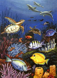 Under the Sea Flag 28x40