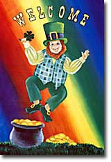 Leaping Leprechaun Flag 28x40