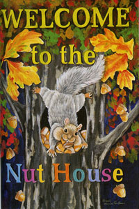 Nut House Flag 28x40