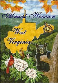 Almost Heaven WV Flag 28 x 40