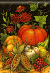 Seasons Harvest Flag 28x40