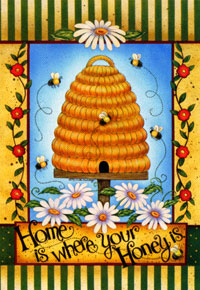 Home is Where Your Honey Is Flag 28x40