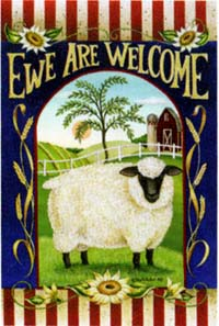Ewe Are Welcome Garden Flag 12.5x18