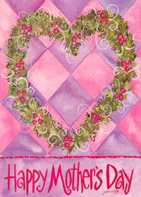 Happy Mother's Day Garden Flag 13x18 D/C