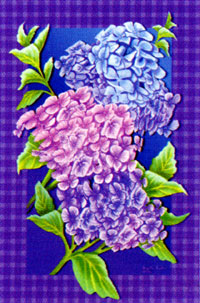 Purple Hydrangeas Flag 28x40
