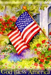 God Bless America Flag 28x40