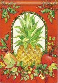 Holiday Pineapple Flag 28 x 40