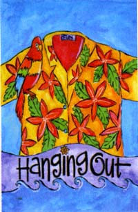 Hanging Out Flag 28x40
