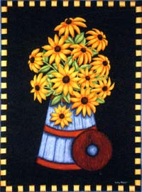 Black Eyed Susans Flag 28x40
