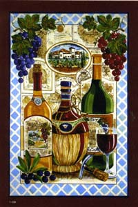 Wine & Grapes Flag 28x40