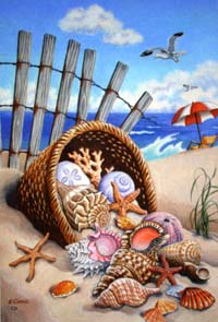 Seaside Shells Flag 28x40