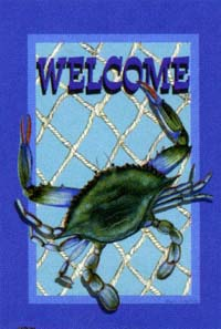 Welcome Crab Flag 28x40