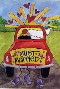 Just Married Flag 28x40