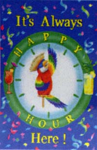 Happy Hour Parrot Flag 28x40