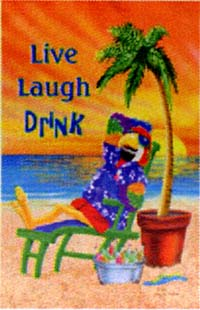 Live Laugh Drink Flag 28x40