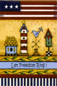 Let Freedom Ring Flag 28x40