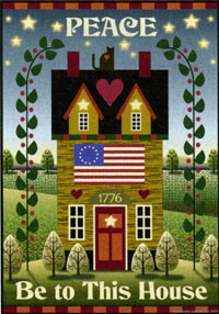 Peace Be to This House Flag 24x36