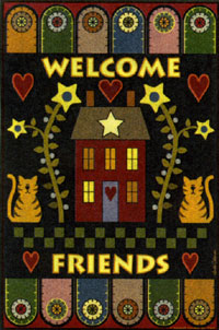 Pennyrug Welcome Friends Garden Flag 12.5x18