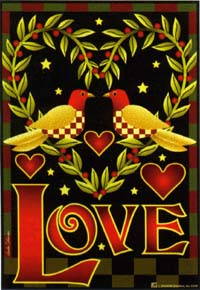 LOVE Birds Flag 24x36