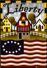 Liberty Farm Garden Flag 12.5x18