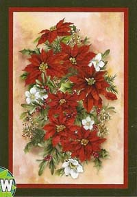Pointsettia Spray Flag 28 x 40