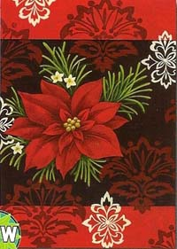 Red Damask Garden Flag 12.5 x 18