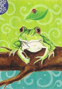 Frog on a Branch Flag 28 x 40