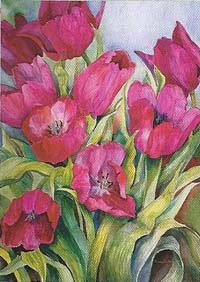 Red Tulips Flag 28 x 40